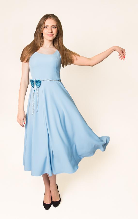 Платье-миди с бантиком-1