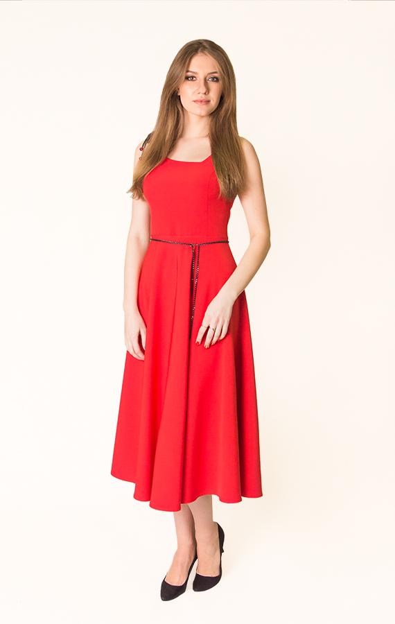 Платье-миди с бантиком-2