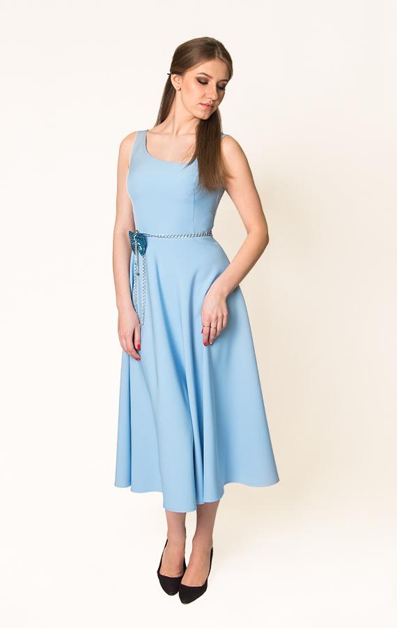 Платье-миди с бантиком-3
