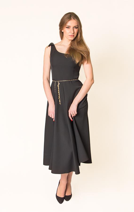 Платье-миди с бантиком-4