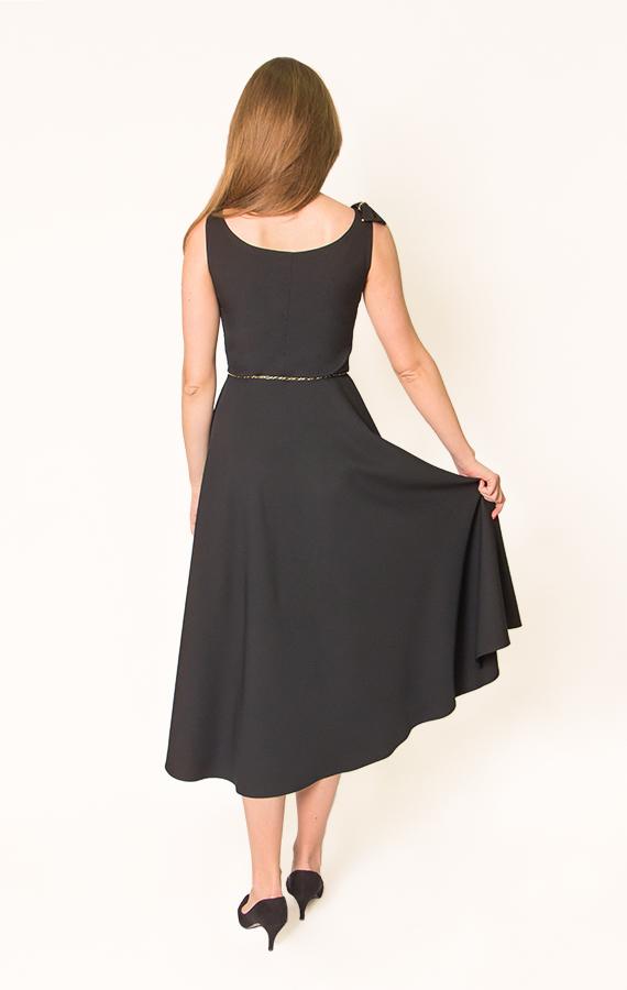 Платье-миди с бантиком-5
